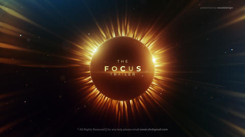 Focus Cinematic Trailer After Effects Template