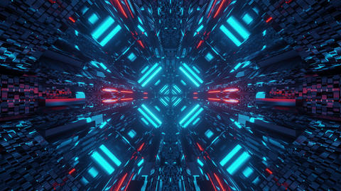 futuristic 3d illustration motion background live walllpaper club visual vj loop Animation