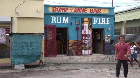 Falmouth Jamaica neighborhood local rum wine bar 4K Live Action