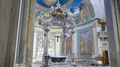 Frescoes in Basilica di Santa Croce in Gerusalemme. Rome, Italy Footage
