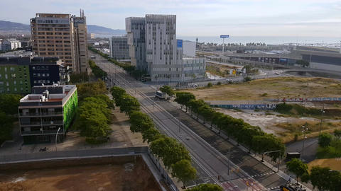 Barcelona, Spain - 25 September 2016: Diagonal Mar and Forum avenue area Footage