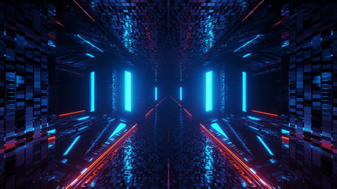 futuristic 3d illustration motion background live wallpaper club visual vj loop Animation