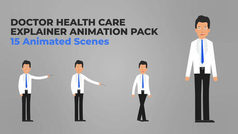 Health Care Explainer Packs After Effectsテンプレート