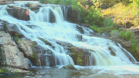 Cascade waterfall in the woods, timelapse, national park, nature Footage