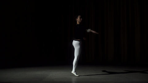 Male Dancer Performs On High Lighted Stage Footage
