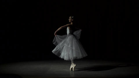 Female Ballet Dancer At A Rehearsal Footage
