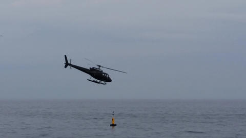 Helicopter Taking Off From Monaco Heliport Footage