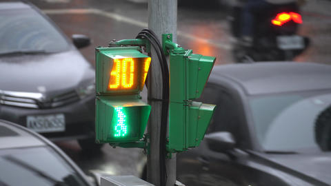 Pedestrian traffic lights in Taiwan Live影片
