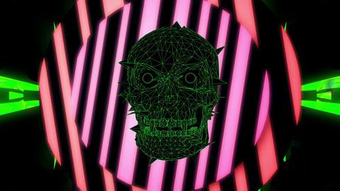 Acid Skull 4K 04 Vj Loop Animation