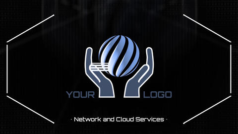 Computer and Cloud Networks Logo After Effectsテンプレート