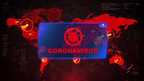 World map of Corona virus COVID-19, Chinese virus infection Warning alert Loop Live Action