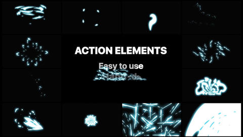 Action Elements Motion Graphics Template