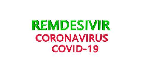 Animation vaccine Remdesivir, 2019-nCoV Novel Coronavirus SARS-CoV-2 Bacteria. Danger, virus, flu. Animation