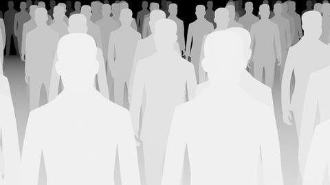 Crowd Silhouette Animation