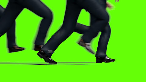 Running Legs, Close Up Crowd of Businessmen Animation
