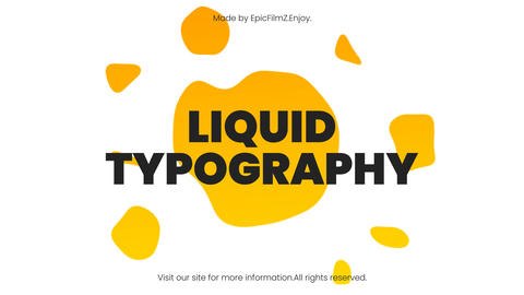 Fresh Liquid Typography After Effectsテンプレート