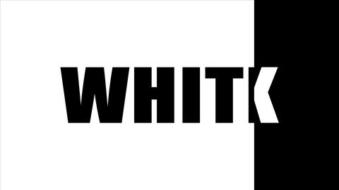 The word black written in white letters on a black background. The word white Live Action