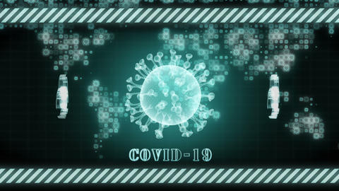Covid 19. Corona Virus Healthcare Concept. Microbiology And Virology, Pandemic all over the world. Animation