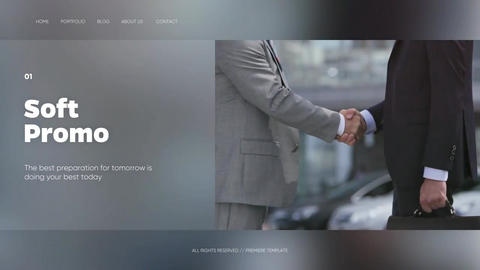 Soft Presentation - Clean Corporate // Premiere Pro Premiere Pro Template
