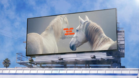 Big billboard - 2 advertising on the street After Effects Template