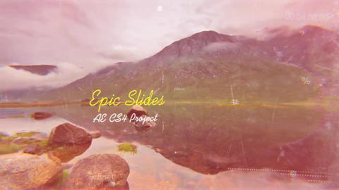 Epic Slides folder After Effects Template