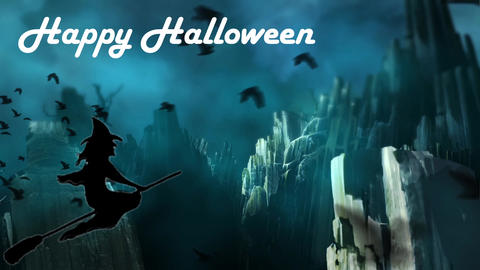 Happy Halloween 03 - Virtual Background Loop Live Action