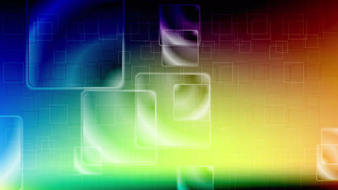 Colorful glossy squares video animation Animation