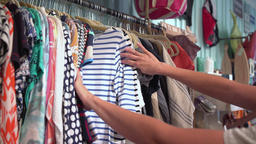 A woman shopping in a cute store Footage