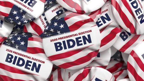 3D Animation of Joe Biden 2020 political buttons Animation