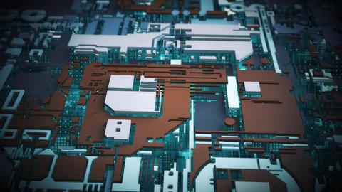 Sci-Fi Circuit Background. Futuristic Concept Design Animation