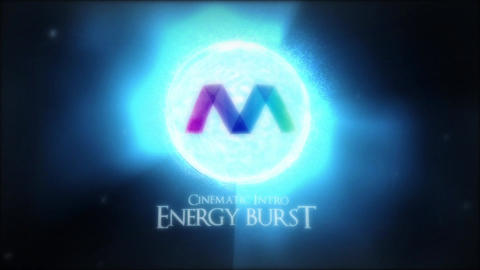 Energy Burst Logo Reveal After Effects Template