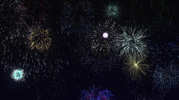 Colorful fireworks in the night sky Live Action
