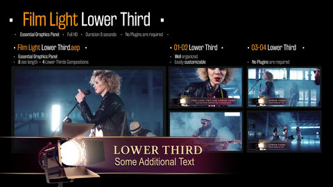 Film Light Lower Third Motion Graphics Template
