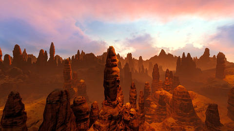 Massif in the canyon Animation