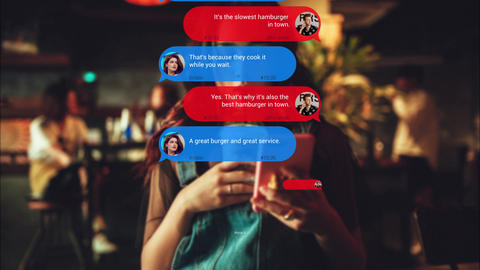 Text Messages After Effects Template