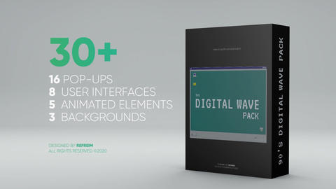 90s Digital Wave Pack After Effects Template