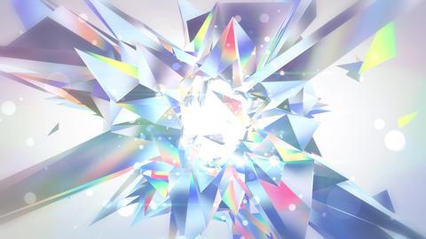 揺らめく宝石のアブストラクト - ダイヤモンド_1 CG動画