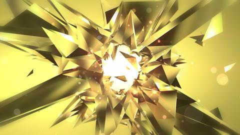揺らめく宝石のアブストラクト - シトリン CG動画