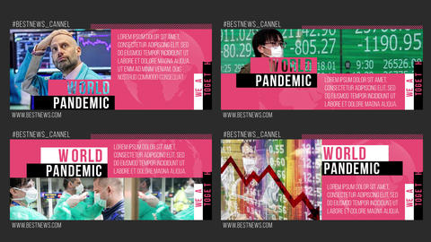 Pandemic News - Big Lower Thirds After Effects Template