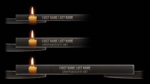 Black Mourning Ribbon Lower Third Motion Graphics Template