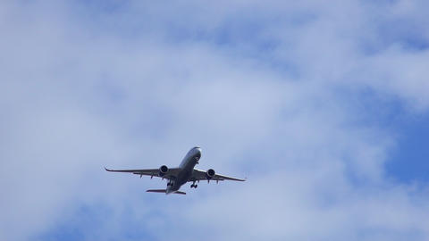Commercial Airplane Aircraft in the sky Live Action