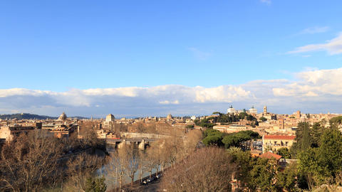 Rome's rooftops. View from the Giardino degli Aranci. Rome, Italy. Time Lapse Live Action