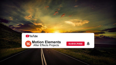 YouTube Subscribe Button 4K After Effects Template