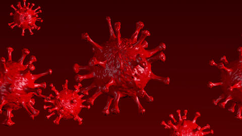 Corona Virus - Microbiology And Virology Concept - Microscope virus close up Animation