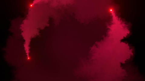 Red Smoke Ink Animation