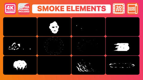 Smoke And Titles Plantilla de Apple Motion