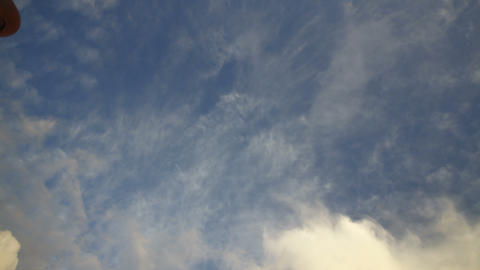 4k time lapse beautiful blue sky with clouds background.Sky clouds Live Action