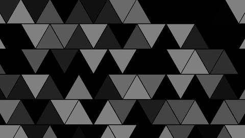 Technological Flickering Triangular Grid Overlay Animation