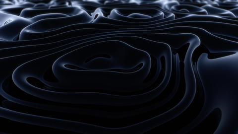 Abstract Animated Black 3D Waves Animation
