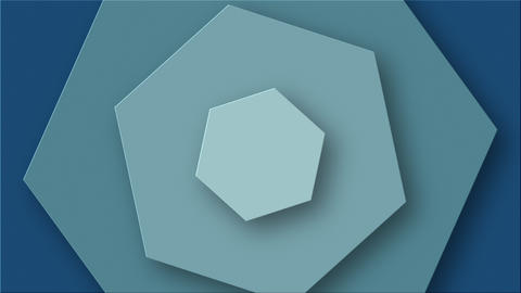 Background With Hexagons Animated On The Surface Animation